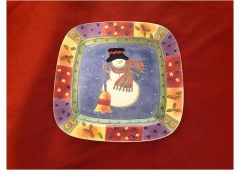 """Christmas 16"""" Square Platter"""
