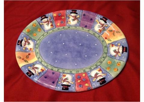 """Christmas 18"""" Oval Platter"""